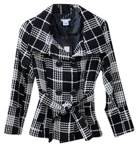 Luii Classic Black And White Plaid Mod Jacket