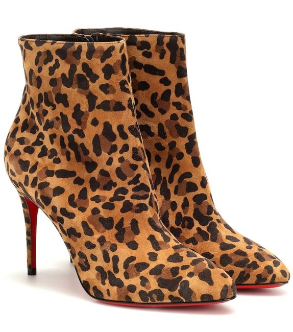 Item - Brown Eloise 85mm Black Leopard Hair Ankle Zip-up Leather Boots/Booties Size EU 41 (Approx. US 11) Regular (M, B)