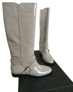 Marc by Marc Jacobs Tall Leather Riding Gray Boots