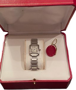 Cartier Small Tank Française watch with original box, authenticity certificate