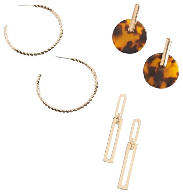 Item - Gold Clara Statement Pack Earrings