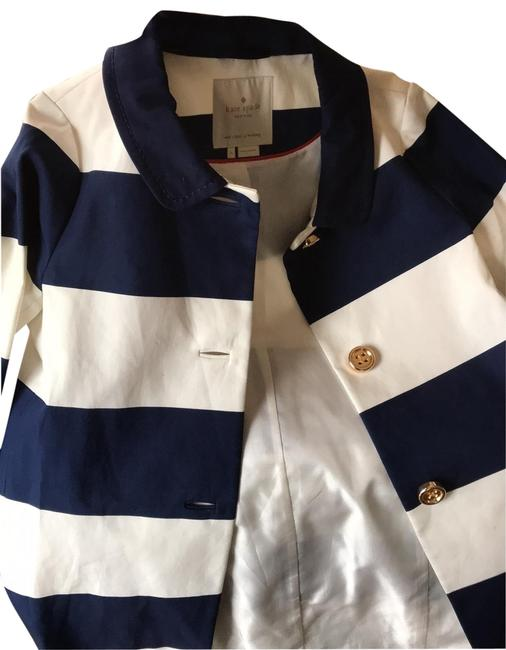 Item - Navy and White Unknown Coat Size 4 (S)