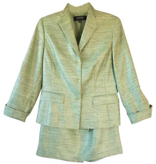 Item - Green Lined Skirt Suit Size Petite 12 (L)