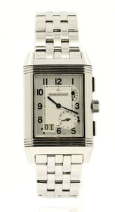 Jaeger-LeCoultre Jaeger LeCoultre Reverso Grande GMT Steel Watch Ref: 240.8.18 BOX PAPE