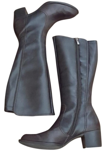 Item - Brown Knee High Leather Boots/Booties Size US 8 Regular (M, B)
