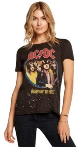 Chaser Band Graphic Ac/Dc T Shirt Black Gray