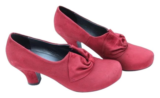 Hotter Red Donna Pumps Size US 8.5