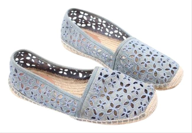 Item - Denim Blue Espradille Flats Size US 6.5 Regular (M, B)