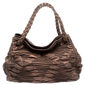 Bottega Veneta Pleated Leather Hobo Bag