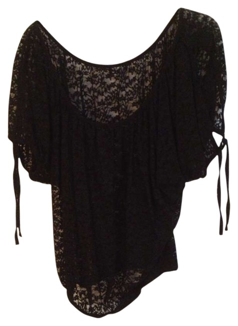 Preload https://img-static.tradesy.com/item/270366/2cute-black-lace-night-out-top-size-8-m-0-0-650-650.jpg