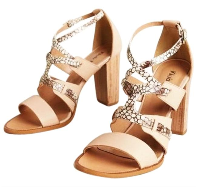 Item - Nude Blush Peach Cream Black White Klub Nico Takara Sandals Size US 6 Regular (M, B)