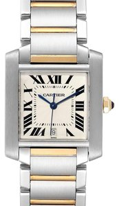Item - Silver Tank Francaise Steel Yellow Gold Mens W51005q4 Watch