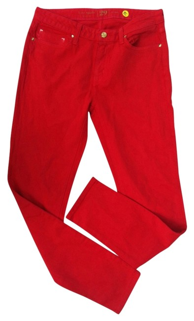 Item - Red Skinny Jeans Size 29 (6, M)