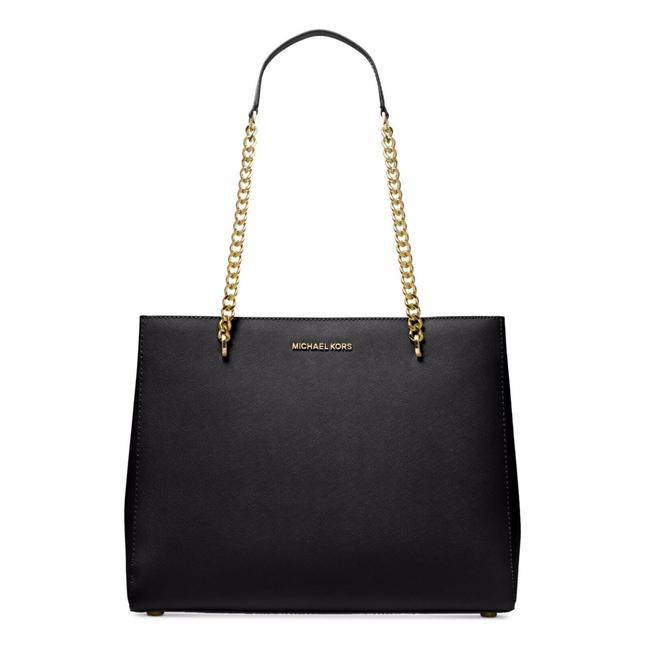 Item - Ellis Large Chain Purse Great Gifts For Women Black Leather Tote