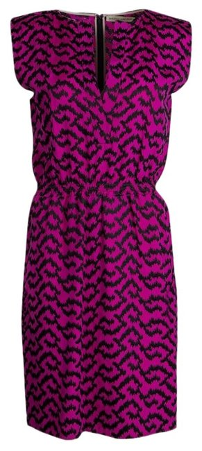 Item - Pink Contrast Embroidered Elasticized Waist Sleeveless Casual Maxi Dress Size 10 (M)