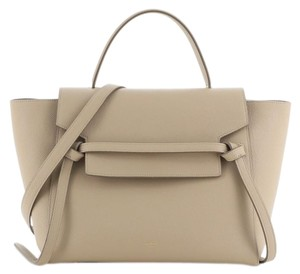 Celine Belt Leather Tote in Neutral