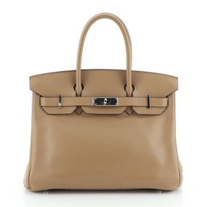 Hermes Leather Tote in Neutral