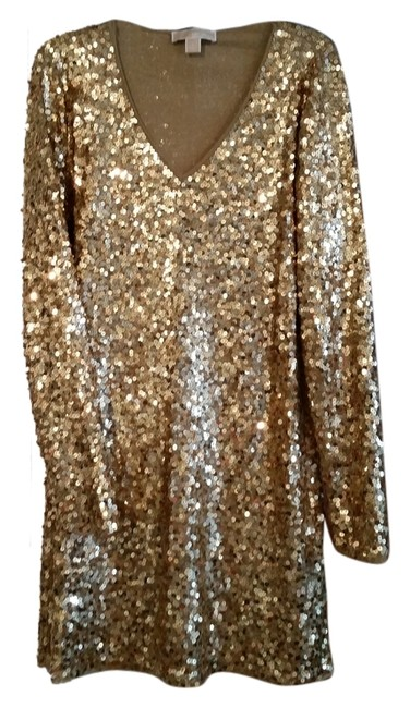 Item - Gold Sequin Above Knee Night Out Dress Size L