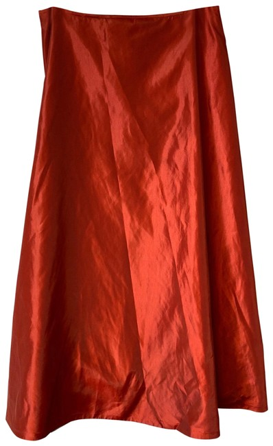 Item - Red L Poly A-line Evening Cocktail Long Skirt Size 12 (L, 32, 33)