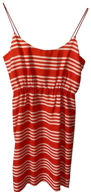 Item - Orange Stripe Short Casual Dress Size 6 (S)