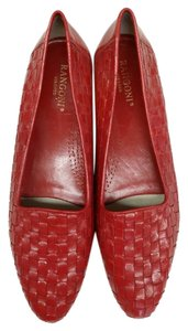 Rangoni Loafer Woven Italy Red Flats