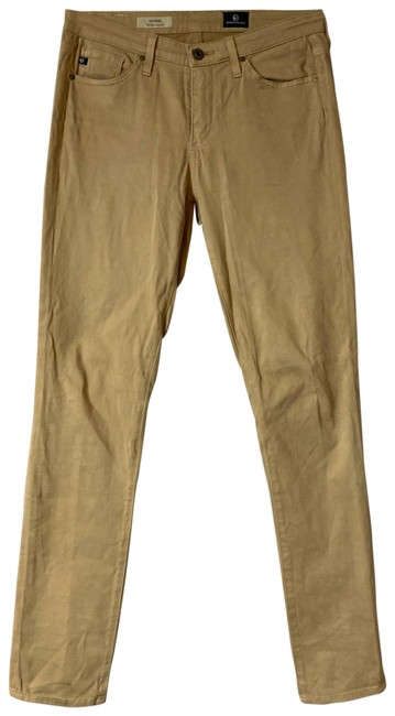 Item - Brown The Prima Mid Rise Cigarette Khaki Jeans 27 Pants Size 4 (S, 27)