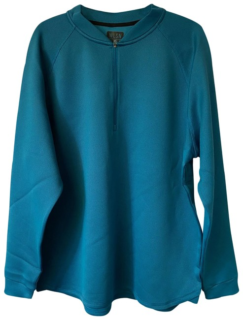 Item - Teal XL Knit Sweater Activewear Outerwear Size 16 (XL, Plus 0x)