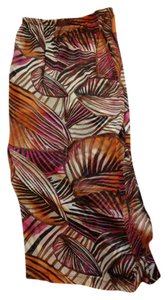 Wet Seal Jungle Leaves Sheer Long Pretty Maxi Skirt Multicolored