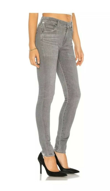 Item - Gray Distressed Rocket Sculpt High Rise In Statuette Skinny Jeans Size 29 (6, M)