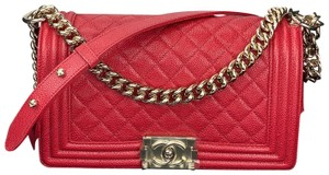 Chanel Flap Chain Strap Quilted Caviar Shoulder Bag