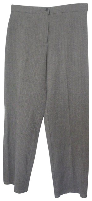 Item - Black New York Ivory Herringbone Pattern Slacks 8p Ec Pants Size Petite 8 (M)