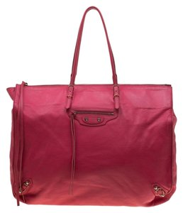 Balenciaga Leather Tote in Pink