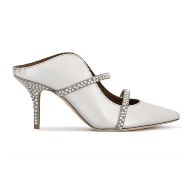 Malone Souliers Silver with Crystals Maureen Mules/Slides Size EU 36 (Approx. US 6) Regular (M, B) Malone Souliers Silver with Crystals Maureen Mules/Slides Size EU 36 (Approx. US 6) Regular (M, B) Image 2