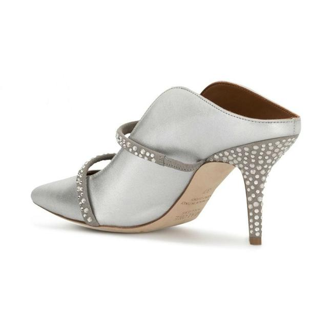 Malone Souliers Silver with Crystals Maureen Mules/Slides Size EU 36 (Approx. US 6) Regular (M, B) Malone Souliers Silver with Crystals Maureen Mules/Slides Size EU 36 (Approx. US 6) Regular (M, B) Image 3
