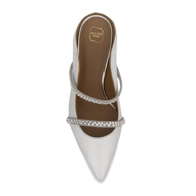 Malone Souliers Silver with Crystals Maureen Mules/Slides Size EU 36 (Approx. US 6) Regular (M, B) Malone Souliers Silver with Crystals Maureen Mules/Slides Size EU 36 (Approx. US 6) Regular (M, B) Image 4