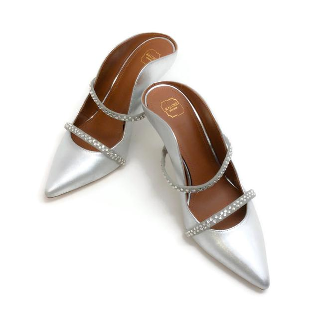 Malone Souliers Silver with Crystals Maureen Mules/Slides Size EU 36 (Approx. US 6) Regular (M, B) Malone Souliers Silver with Crystals Maureen Mules/Slides Size EU 36 (Approx. US 6) Regular (M, B) Image 5