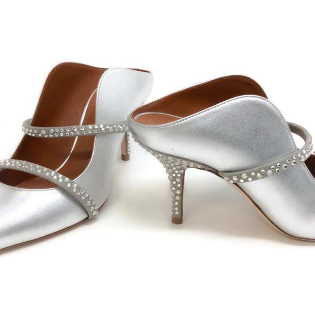 Malone Souliers Silver with Crystals Maureen Mules/Slides Size EU 36 (Approx. US 6) Regular (M, B) Malone Souliers Silver with Crystals Maureen Mules/Slides Size EU 36 (Approx. US 6) Regular (M, B) Image 6