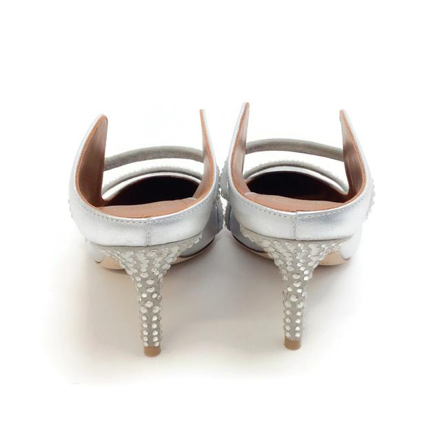 Malone Souliers Silver with Crystals Maureen Mules/Slides Size EU 36 (Approx. US 6) Regular (M, B) Malone Souliers Silver with Crystals Maureen Mules/Slides Size EU 36 (Approx. US 6) Regular (M, B) Image 7