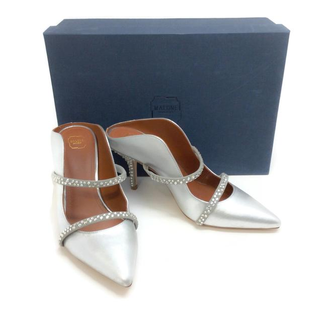 Malone Souliers Silver with Crystals Maureen Mules/Slides Size EU 36 (Approx. US 6) Regular (M, B) Malone Souliers Silver with Crystals Maureen Mules/Slides Size EU 36 (Approx. US 6) Regular (M, B) Image 8