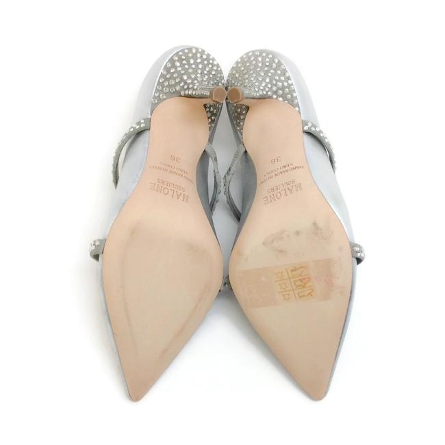 Malone Souliers Silver with Crystals Maureen Mules/Slides Size EU 36 (Approx. US 6) Regular (M, B) Malone Souliers Silver with Crystals Maureen Mules/Slides Size EU 36 (Approx. US 6) Regular (M, B) Image 9