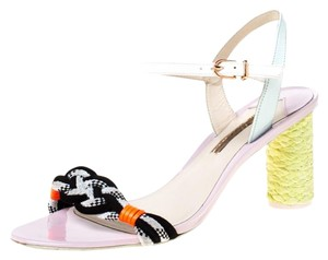 Sophia Webster Leather Braided Ankle Strap Multicolor Sandals