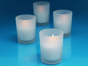Frosted Glass Holders Votive/Candle