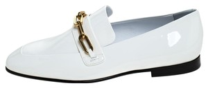 Burberry Patent Leather Leather White Flats