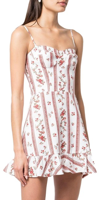 Item - White Red Marianna Short Casual Dress Size 12 (L)