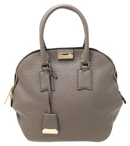 Burberry Leather Satchel in Grey