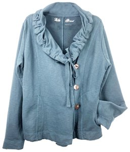 Lucky Brand Lagenlook Transitional Knit Boho Blue Jacket