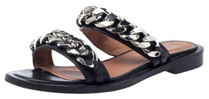 Givenchy Leather Chain Black Flats