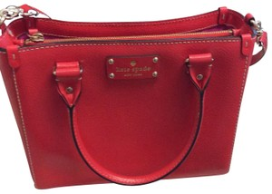 kate spade new york Satchel in lacquered (bright red)