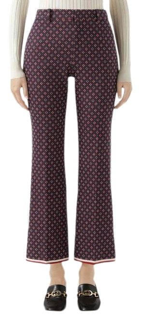 Item - Navy and Red Geometric G Jacquard Pants Size 4 (S, 27)