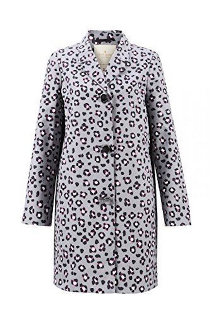 Item - Gray Cyber Cheetah Feti Coat Size 8 (M)